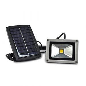 Lychee 10W LED Energie Solaire Projecteur LED Haute Puissance en Lumière Lampe Extérieure Etanche Imperméable (Blanc) (Lycheer, neuf)