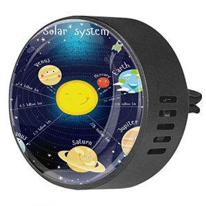 2 pièces voiture aromathérapie huile essentielle diffuseur de voiture parfum évent Clip assainisseur d'air coloré système solaire Satellite (Nathaniel Toynbee, neuf)