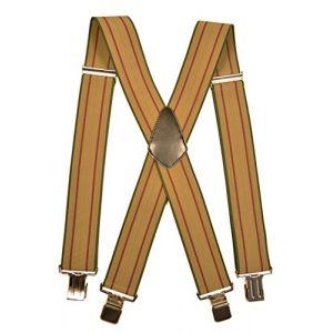 Bretelles XXL entièrement réglable Extra Fort avec 4 Clips - 5cm. Crème avec  Bourgogne Rayures 9b4b084e457c