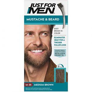 Just For Men Lot de 4 moustache et barbe en gel Couleur M-35 Marron moyen (Onogo FR, neuf)