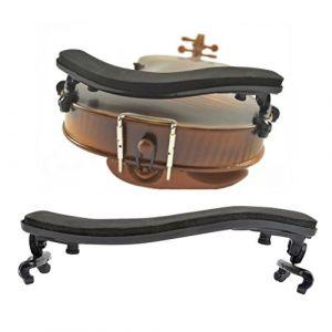 TIMESETL Épaulière pour Violon 3/4 4/4 Coussin en caoutchouc avec pieds réglables (TXJ-EU, neuf)
