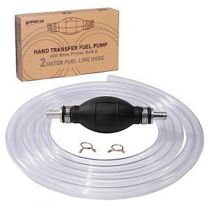 Spurtar Pompe Manuelle Siphon Transfert de Liquide Pompe Tuyau D'aspiration Manuelle Pompe à Main d'urgence Aspiration pour Eau Huile Essence (Wittyware EU, neuf)