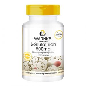 Warnke Vitalstoffe L-Glutathion 500 mg - réduit - 100 comprimés - végan (Warnke Vitalstoffe GmbH, neuf)