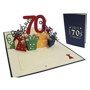 LIN - 3D POP UP carte de voeux joyeux anniversaire Carte anniversaire âges70 ans ( Nr. 25) (LIN POP UP KARTEN, neuf)