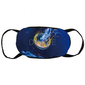 DKISEE Unisex Anti Dust Face Mouth Mask 005 Oil Painting Jellyfish Reusable Cotton Breathable Safety Face Mask Face Protections for Indoor Outdoor 9.0x4.7 inches (Hor782Bald, neuf)
