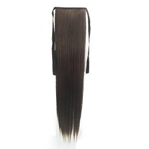 Bearbelly 55CM Faux long Drawstring Ponytail Clip dans Cheveux longs et lisses Reliure Postiche pour Fille Lady Femme (Bearbelly:Promotion à durée limitée, neuf)