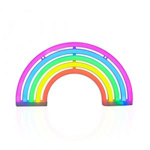 Rainbow LED Neon Light Sign Applique murale Barre de support lampe maison salle de chambre d'enfant (The Glowhouse, neuf)