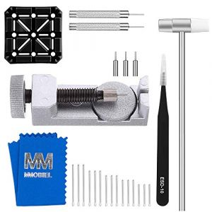 MMOBIEL Watch Band Strap Link Pin Remover Repair Tool 24 in 1 Kit with Extra Tips Cotter Pin Holder Head Hammer (Menko Telekom, neuf)