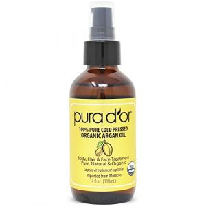 PURA D'OR Moroccan Argan Oil 100% Pure & USDA Organic For Face, Hair, Skin & Nails, 4 Fluid Ounce by PURA D'OR (TOY WORLD GROUP, neuf)