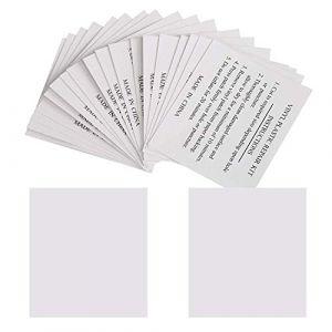 GWHOLE Lot de 20 Patchs de Réparation 5,5 x 6,5 cm Rustine de Réparation pour Piscines, Matelas, Bouées, Spas Gonflables (Moncolis Direct, neuf)