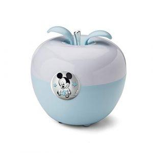 Disney - Veilleuse à LED pour enfant - pour table de nuit/s'allume en soufflant dessus - coloré/motif Mickey Mouse/détails argentés (Valenti&Co, neuf)