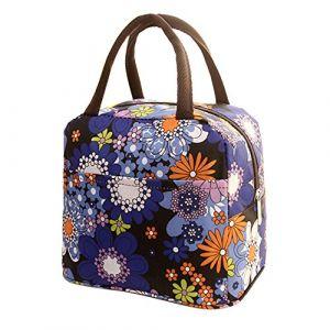 Sac Isotherme Repas Lunch Bag Portable Sac à Déjeuner - Sac Fraîcheur Portable - Sac à Déjeuner Lunch Bag Protection de Fraîcheur - Serria pour Femme, Homme, École et Bureau (Serria, neuf)