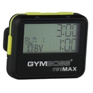 Gymboss miniMAX Minuteur d'intervalle et chronomètre – Coque noir/jaune softcoat (Gymboss EU, neuf)