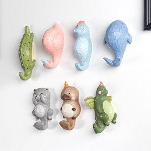 Here&There 3D Mignon Animal Patère Porte-manteau Crochets Mural en Résine Decoration Bébé Enfant Chambre (Hippocampe) (Here&There Trade .Ltd, neuf)