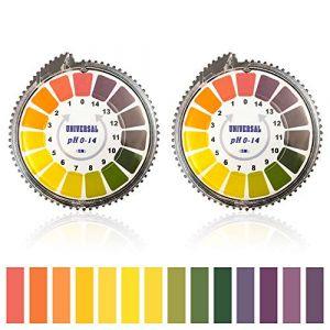 Bornfeel Papier Indicateur Rouleau 2 Boîtes pH Test Strips Papier Bande Testeur Gamme Complète 0 - 1 (Ttwuyr - fr, neuf)