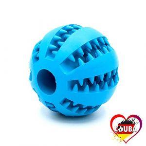 LouBa Balle pour Chien avec Fonction de Soins dentaires | Jouet pour Chien avec Picots pour friandises | Balle de Jeu Robuste pour Chiens de Grande et Petite Taille - Boule de 7 cm de diamètre (LouBa, neuf)