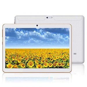 HXY Tablette Android avec écran HD IPS 10,0 Pouces, Tablette Android 9.0 avec 2 emplacements pour Carte SIM, Quad-Core, 1,3 GHz, 4 Go + 64 Go, Bluetooth, WLAN, GPS, Double caméra (HasweUK, neuf)
