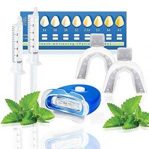 Kit blanchiment dentaire White First - Kit blanchissement dentaire avec 20ml de gel blanchiment parfum menthe fraîche (Bravo Alfred, neuf)