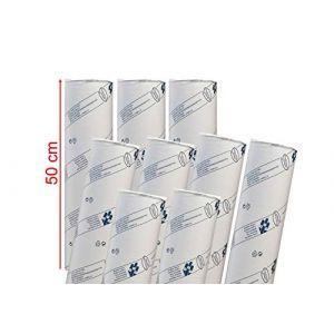 déliktess® - Drap D'examen Ouate Luxe 50 cm - 9 rouleaux - Gaufré - Dimension 50x38cm (MFB Provence, neuf)