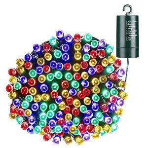 NEXVIN Guirlande Lumineuse à Piles Exterieur, 10M 100 LED Guirlande Noel Multicolore avec 8 Modes pour Décoration Noël, Sapin, Interieur/Extérieure, Mariage (NEXVIN, neuf)