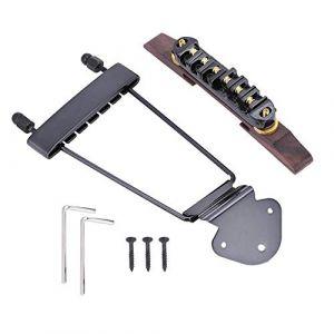 Cordier de guitare et chevalet, Cordier de base en palissandre avec rouleau pour guitare à 6 cordes LP SG Jazz. (Huidel, neuf)