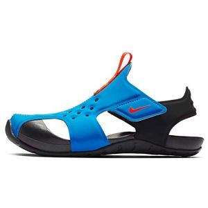 Nike Sunray Protect 2 (PS), Chaussures de Plage & Piscine garçon, Bleu (Photo Blue/BRT Crimson/Black 400), 28 EU (Flukey LLC, neuf)