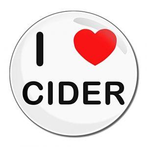 I Love Cider - Miroir compact rond de 55 mm (BadgeBeast, neuf)