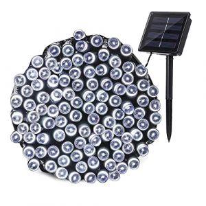 Guirlande Lumineuse Exterieure Solaire , Joomer 22M 200 LED Guirlande Solaire Exterieur 8 Modes Étanche Guirlande LED Solaire Pour Jardin, Terrasse, Cour, Noël, Mariage, Fête(Blanc Froid) (Joomer EU, neuf)