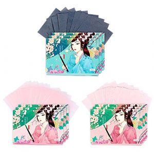 Papiers de buvard de maquillage de double face visage papier absorbant l'huile ensemble, 300 feuilles (A) (Koala Superstore EURO, neuf)