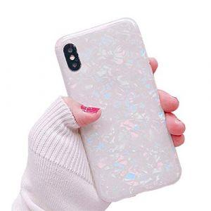 Rembcon Coque pour iPhone 7, iPhone 8 Coque Silicone Paillette Strass Brillante Glitter de Luxe, Bumper Housse Etui de Protection Anti Choc pour iPhone 7 iPhone 8 plus case Obus Couleur 3) (Rembcom, neuf)