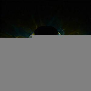 Lampe solaire ronde et étanche en mosaïque de verre avec LED à changement de couleur pour décoration intérieure ou extérieure (LIBINN, neuf)
