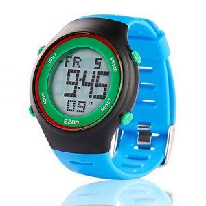 EZON L008B12 Montres de Sport décontractées pour Hommes et Hommes avec Alarme Chronomètre Compte à rebours Calendrier de 50 Ans Montre de Montre imperméable à l'eau (Pacers-X, neuf)
