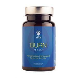 BURN - Formule brûleur de graisse thermogénique + Guarana pour les hommes et les femmes. Naturel et efficace perte de graisse du ventre. Perte de poids puissant et rapide. 60 comprimés pilules, ne contient pas de gluten et OGM. (Vital Concept, neuf)