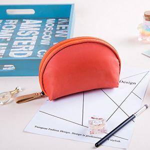 Sac de rangement de sac cosmétique petite capacité voyage portable portable mini dames simple paquet de maquillage en option multicolore,Orange (FEIZI, neuf)