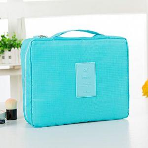 MZP Corée sac de lavage Kit de Voyage portable dame Voyage poche imperméable Voyage d'affaires Produits cosmétiques , days blue (ZhongPing Miao, neuf)