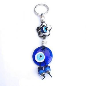 Coeur porte-clés verre voiture porte-clés fleur porte-clés pour femmes hommes bijoux 1 (Gendaje, neuf)