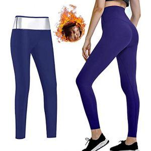 Nitoer Pantalon Sport Femme,Legging de Sport,Pantalon Femme,Pantalon Sudation Femme,Legging Sauna Minceur,Cycliste Femme,Vetement Sudation,Pantalon Yoga,Fitness Gym Pilates (XL) (GYSM, neuf)
