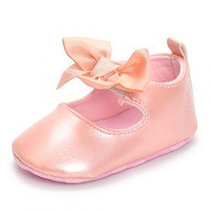 ESTAMICO Chaussure bébé Premier Pas Ballerines bébé Fille,Rose 0-6 Mois (Lacofia, neuf)