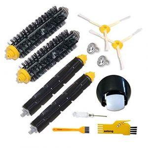 Ensemble de roulette de roue avant et kit de brosse pour iRobot Roomba 500 600 Série 700 529 550 595 620 625 630 650 660 760 770 780 790 Accessoires pour aspirateur (aotengou, neuf)