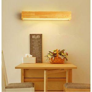 HBVAN Applique Murale LED Appliques Luminaire Intérieur Bois Lampe de Mur lumière chaude Lampe pour Chambre Salon Bureau Couloir (55cm) (SEVERAL, neuf)