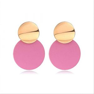 Boucles d'oreilles Boucles d'oreilles de vacances pour femmesBoucles d'oreilles Acrylique Géométrique Rouge Dangle Boucle d'oreille Mariage BrincoRose 5 (Graceguoer, neuf)