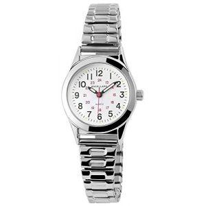 exce llanc Analogique Montre Bracelet pour Femme avec Quartz 170022000021et boîtier en métal avec Argent Métal coloré cordon couleur du cadran blanc bracelet Largeur 14mm (7daysin, neuf)