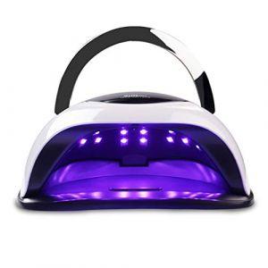 Lampe UV Sèche Ongles, 120W UV LED Séchoir à Ongles Professionnel avec 4 Minuteries LCD Ecran, Base démontable, Lampe UV Ongles pour Vernis Semi Permanent, Gel et Vernis etc.-MerryDate (MerryDate?, neuf)