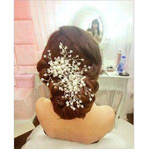 Musuntas élégant clip Strass Perles cheveux de mariage mariée bijoux accessoires de cheveux de mariée pince à cheveux ( Neuf Marketplace )