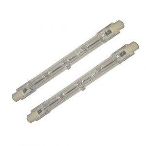 2pcs/lot Ampoule halogène R7s 150W 100W 300W 500W 1000W (Blanc chaud, 118mm 300W/AC220-240V) (Hntoolight, neuf)