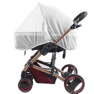 Moustiquaire pour poussettes, porte-bébés, sièges d'auto, berceaux. Filet d'insertion universel durable pour bébé Kyerivs (White) (MK.LeAp, neuf)