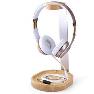 Avantree Support Universel en Bois et Aluminium pour Casques Audio avec Support de câble pour Sony, Bose, Shure, Jabra, JBL, AKG, Casques Gaming et écouteurs [2 Ans de Garantie] (AvantreeDirect, neuf)