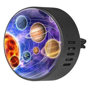 2 pièces voiture aromathérapie huile essentielle diffuseur de voiture parfum évent Clip désodorisant solaire planète univers espace (Nathaniel Toynbee, neuf)