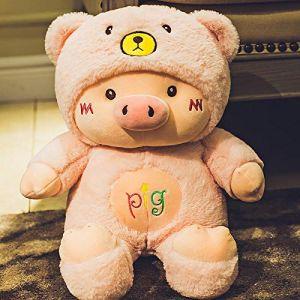 Peluche petit cochon de couchage oreiller cochon poupée poupée chiffon poupée mignon chiffon poupée cadeau d'anniversaire -2_70 cm (lizhaowei531045832, neuf)
