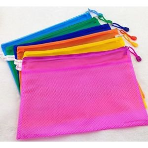 MMY-Perles Matte Chemise Paquet Portefeuille Pochette en PVC Zip Document Dossier -A5- 6 Pcs (B8) (MMY1980, neuf)